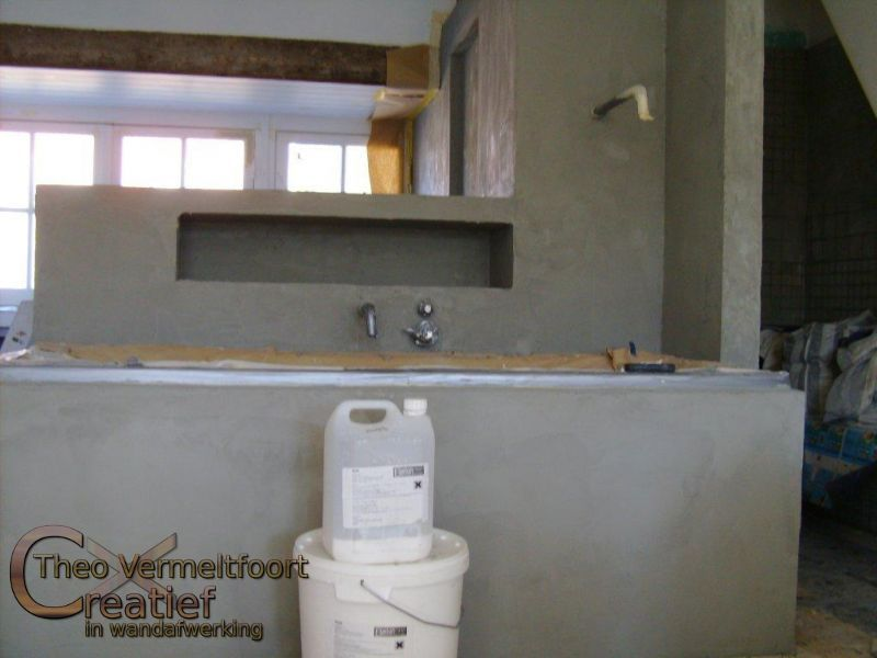 badkamer betonlook zelf doen: betonlook badkamer beton cire in, Badkamer