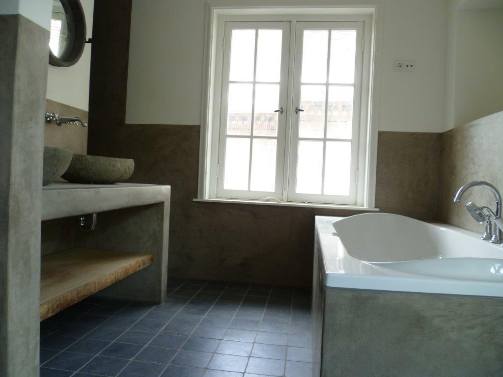 Design Badkamer Haarlem ~ tadelakt badkamer incl wandverwarming