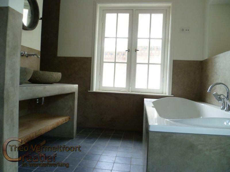 Voorbeeld Afvoer Badkamer ~ Badkamer Stucwerk Beton cire eindhoven onderhoudsvrij chique badkamer