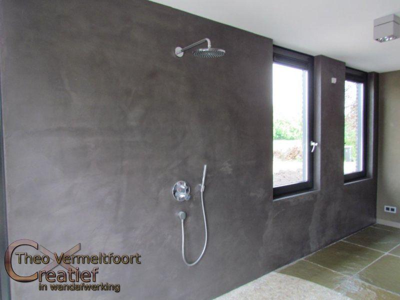 Cement Afwerking Badkamer : Badkamer sauna beton ciré